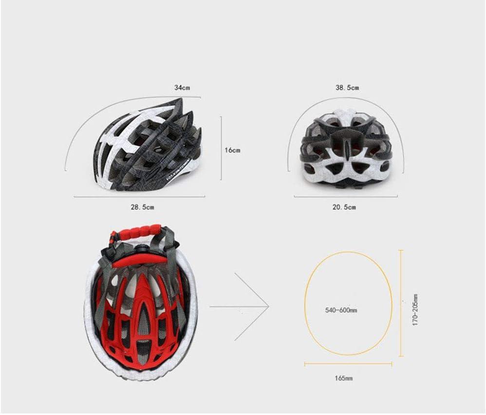 XYL Bicicleta Casco Peso Ligero Proceso de una Pieza Carcasa de PC Protecci/ón Adecuado para Bicicleta de Carretera Ciclismo de monta/ña BTT Forro Desmontable Hombres y Mujeres,blackandred