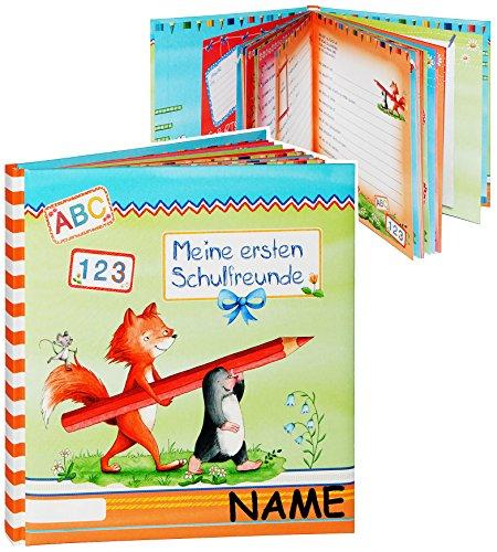 Mein Freundebuch -  Meine ersten Schulfreunde  - incl. Name - Kinder Vorschule Poesiealbum - Poesie A5 Softcover - Mein erstes Schuljahr und Meine Freunde -..