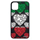 Coque Drapeau Italie Italien pour Apple iPhone 11 Pro Max Silicone Souple Portable Jeux Olympiques Coupe d'europe Foot I Love Rugby