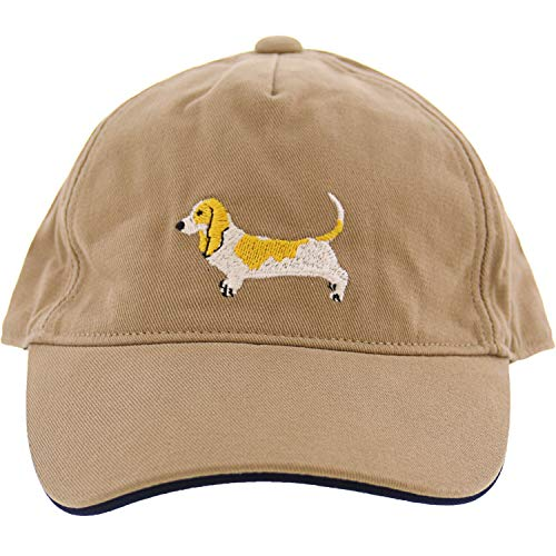Janie and Jack Boy's Brown Embroidered Dog Cap Baseball - 6-12 Months