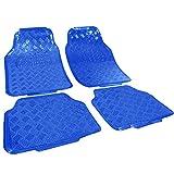 WOLTU 7109 Tapis de Sol Universel pour Voiture,Tapis de Voiture Look Aspect en Aluminium,Bleu