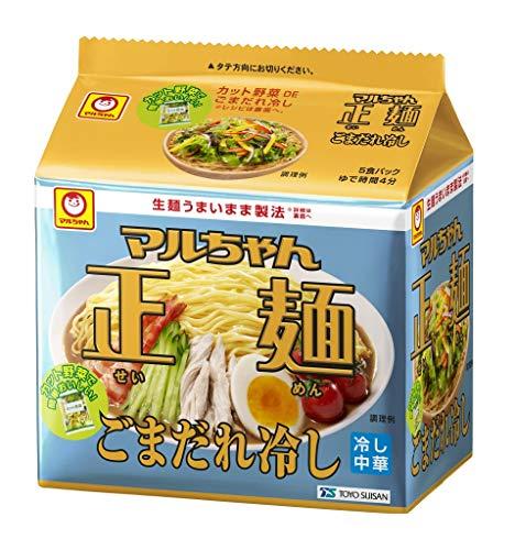 東洋水産 マルちゃん正麺 ごまだれ冷し 5食パック 5個
