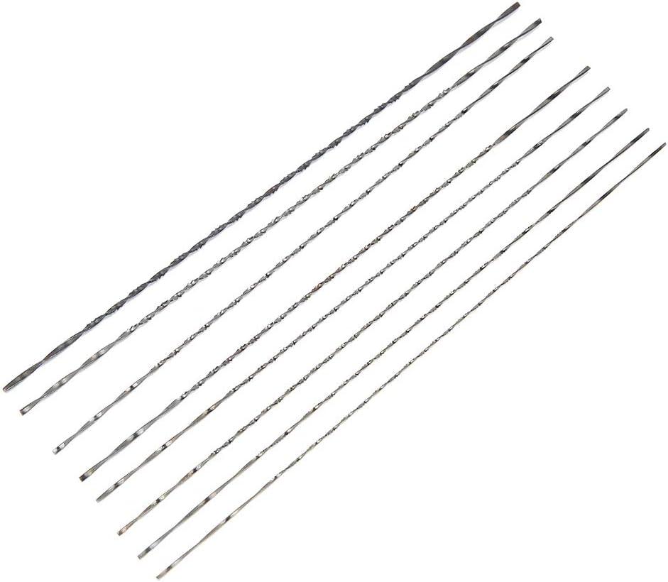 8 piezas de hoja de sierra de metal para sierra, hoja de sierra para joyería, accesorio de carpintería de repuesto para marco de sierra en forma de U, sierra, madera, plástico