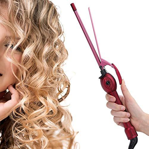 Fer à friser les cheveux, fer à friser, baguette de curling de cheveux Fer à friser avec trois tuyaux mini fer à friser électrique Salon baguette de curling domestique anti brûlure outil(EU#1)