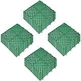 Happybuy Drainage Tiles Interlocking 25 PCS, Plastic Tiles 12x12x0.5...
