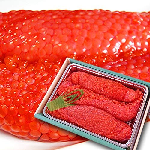 魚水島 北海道〜岩手産 生筋子(生いくら)季節限定「ずっしり大粒 生すじこ」 1kg