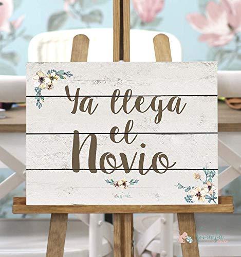 Noviembre Dulce Cartel de Boda Ya llega el Novio - Fondo Blanco