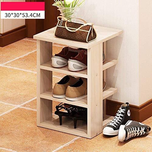 YLCJ Houten schoenenkast Wardrobe 3 planken Houten plank voor halmeubels Organizer Rack