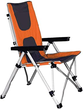 XXHDEE Chair Camping Outdoor Heavy Luxury Folding Chair Festival Director Fishing Lounge Chair