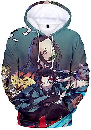 TJJF Sudadera con Capucha Unisex 3D Blade Anime Print Sudadera de Cuello Alto Manga Larga Sudadera con...