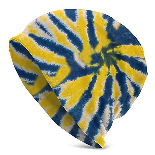 Bunte gelbe blaue Krawatten-laufende Hüte - Beanie für das Laufen - Winter-laufende Schädel-Kappe - super weich