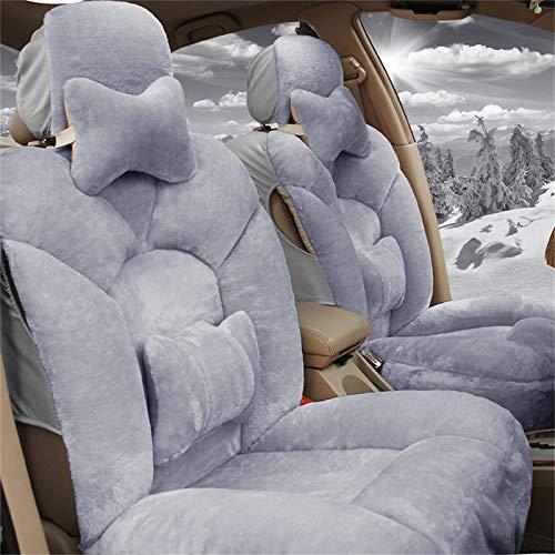 JYWAJAA Copertura di Sede dell'automobile Imposta Universal Car Seat Covers Inverno Breve Peluche Materiale Adatto per Le Auto A 5 Posti,...