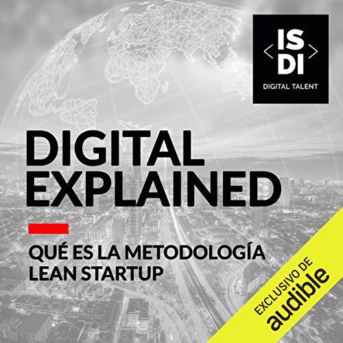 Diseño de la portada del título En que consiste la metodologia de Lean Startup (Narración en Castellano)