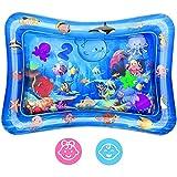 Wassermatte Baby, Aufblasbare Wasserspielmatte Baby Spielzeug für Baby Frühe Entwicklung Aktivitätszentren. (Blue)