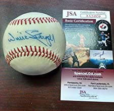 Pirates Hall Of Famer Willie Stargell Autographed Signed Baseball - Memorabilia JSA Authenticated