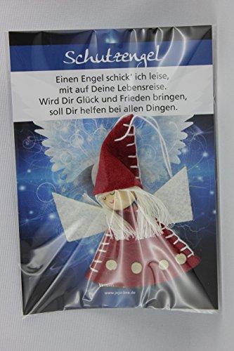 JoJo, Wichtel Arts, J023-302, Schutzengel, Filz, 8cm, rot