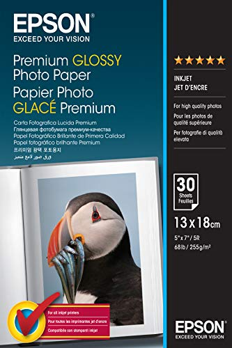 Epson Premium glossy photo paper inkjet 255g/m2 130x180mm 30 Blatt Pack
