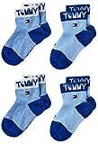 Tommy Hilfiger Tommy Wording Baby Socks (2 Pack) Calzini, Combo blu, 23-26 Bimbo