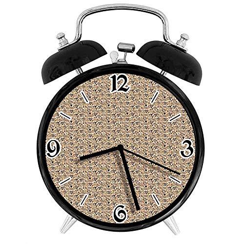 SanJIUCOM Reloj Despertador Digital XOXO con Grupo de Formas de corazón Doodle XOXO Lettering CalligraphyPeach Adecuado para Estudio de Dormitorio de Oficina
