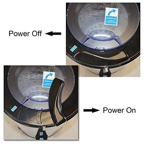 Panda Portable Spin Dryer for Swimsuits and Laundry, 22lb Capacity, Stainless Steel, PANSP22 Water Extractor