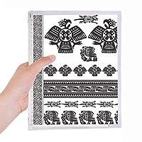 エジプトのファラオのパターンは、アートのシルエット 硬質プラスチックルーズリーフノートノート