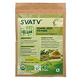 Polvere di semi di finocchio SVATV (Foeniculum vulgare) 1/2 LB, 08 oz, 227g Certificato USDA - Tasca con chiusura lampo, Erba commestibile per integratori, Culinaria