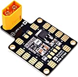 LUOWAN XT60 PDB - Placa de distribución de potencia (3 A, 5 V/12 V, doble vía, BEC 6 ESC, para Racing Drone Quad FPV RC415)