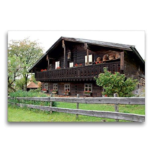 Premium Textil lienzo 75 cm x 50 cm horizontal, histórico Bauernhaus de madera en el bosque de Baviera, Alemania, Europa, imagen en ... en el bosque bávaro natural (CALVENDO Natur);CALVENDO Natur