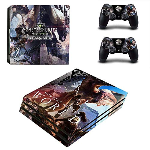PS4 Pro Console and Controller Skin Set - Monster Hunter: World Gaming Vinyl Skin Cover by Mr Wonderful Skin