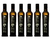 Pago La Corona De Olivos Centenarios – AOVE de la DOP Sierra de Moncayo - Aceitunas Seleccionadas de Olivos muy Antiguos de Empeltre - Cosecha temprana - En botella PREMIUM de 500 ml - 6 Unidades