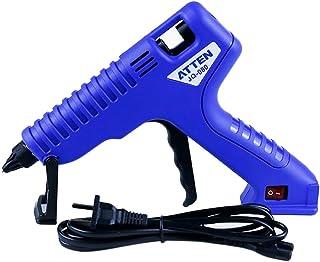 Shiwaki JQ-100 100W Mini Pistola de Silicona Caliente Plástico a Niños, Hogar y Cocina - Azul Oscuro & Negro, JQ-080