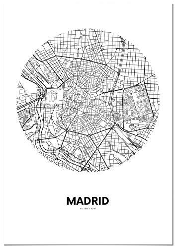 Panorama® Póster Mapa Círculo Madrid 21 x 30 cm