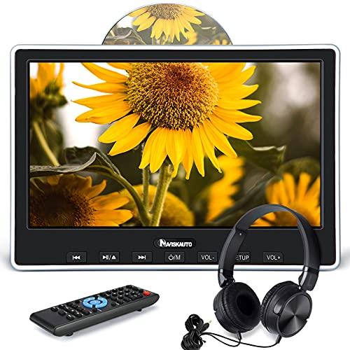 NAVISKAUTO Slot in Design Lecteur DVD Voiture pour Enfant Ecran d'appui tête 10,1 Pouce Supporte Entrée HDMI Région Libre Compatible avec MKV/MP4