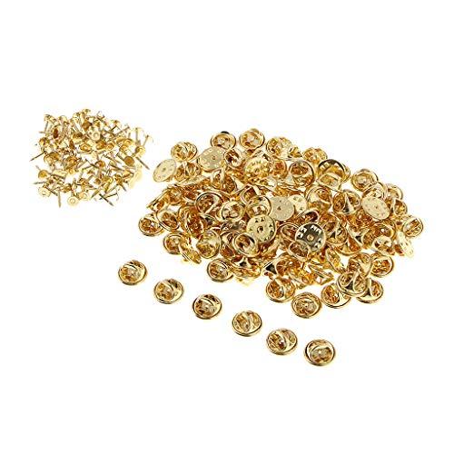B Baosity 100x Remaches de Uñas de Cobre para Cinturón, Bolso, Zapatos, Ropa - Oro