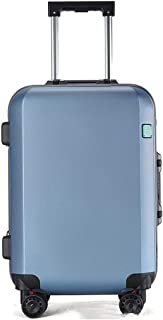 """SRY-Luggage ABS + PC Convenient Trolley Case, Sleek Minimalist Suitcase, Wheel Travel Rolling Boarding, 20"""" 24"""" Inches Durable Carry on Luggage (Color : Blue, Size : 20inch)"""
