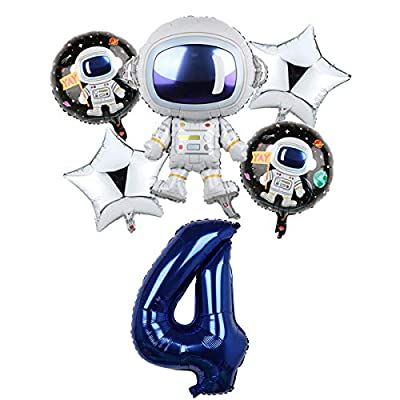 Space Birthday Party Balloons Decorations for B...