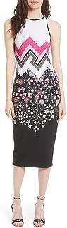 London Seenaa Floral Print Black Jersey Midi Tank Dress TB0 / US2