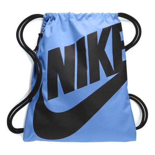 Nike Heritage Turnbeutel, Blau/Schwarz