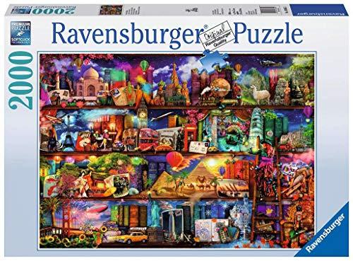 Ravensburger Puzzle 2000 Pezzi, Miracoloso Mondo dei Libri, Collezione Fantasy, Jigsaw Puzzle per Adulti, Puzzle Ravensburger - Stampa di Alta Qualità