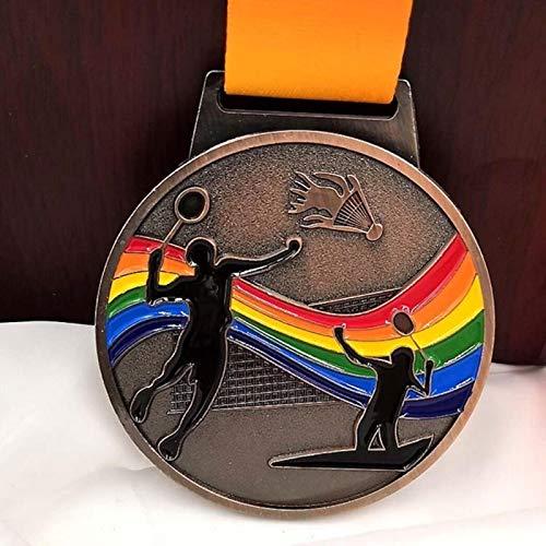Eeng Farbige Metall-Medaillen, Anstecker, Souvenirs, Badminton-Medaille.