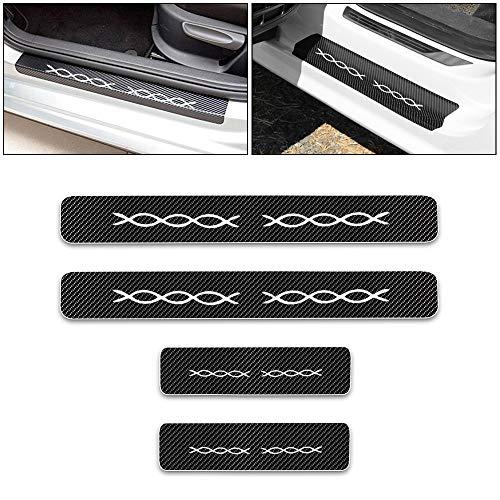Per Smart Battitacco Per Sottoporta Portiere Dell'auto Adesivo,Davanzale Guardia Piastra Porta,Soglia Decorativa Pedale Copertura Bianco