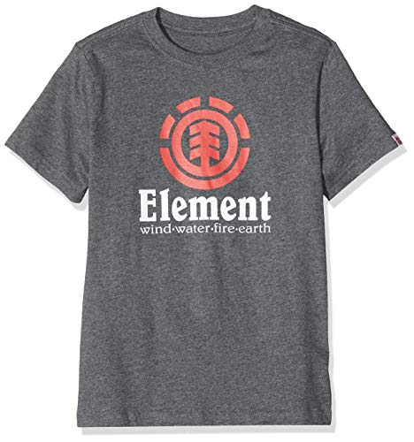 Element Kinder Vertical SS Boy Tees, Charcoal Heathe, 12