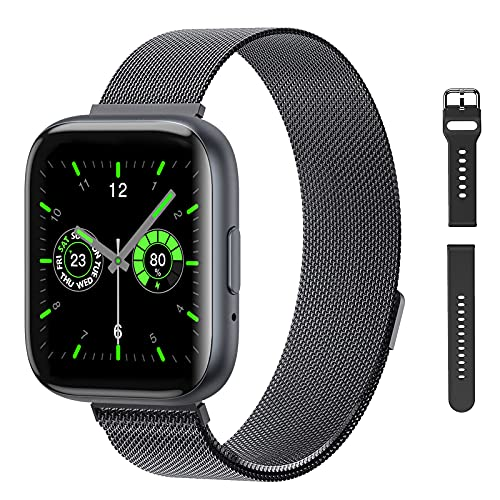 """Smart Watch with Call,G.Home Fitness Tracker for Android Phones and Compatible with iPhone,Waterproof Smartwatch Step Counter with Heart Rate Sleep Monitor (1.54"""" ,Black+2 Bands)"""