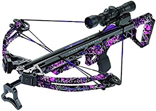 Carbon Express Covert 3.4 Crossbow Kit (Rope Cocker, 3 Arrow Quiver, 3 Crossbolts, Rail Lubricant, 3 Practice Points, 4x32 Multi-Reticle Scope)