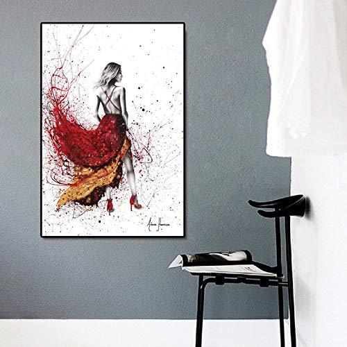 hetingyue Opera House Studio Moderna Decorazione della Parete di casa Poster e Stampe di Graffiti Astratti Arte Ballerino di Danza Classica Tela Pittura murale Pittura Senza Cornice 50x75 cm