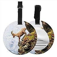ネームタグ バッグ用ネームタグ ヤギ, ネームプレート スーツケース 紛失防止 旅行 出張 対応用 荷物タグ