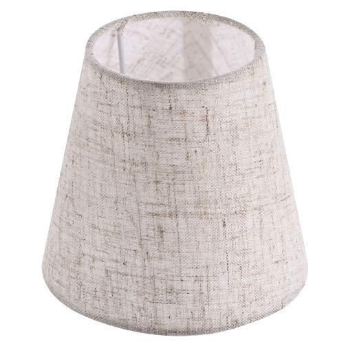 OSALADI Pantalla de lámpara de araña, pantalla de tela de lino, lámpara de mesa Shell Cover Light accesorio para candelabros, lámparas de suelo y lámparas de dormitorio