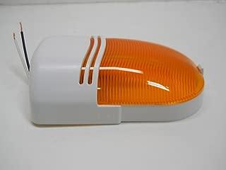 Command Electronics 12V Amber RV Camper Trailer Porch Security Scare Outside Light/Single Bulb