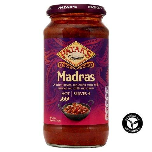 Patak's Original Madras Indian Cooking Sauce HOT 450g - Patak's Original Madras Kochsoße (scharf)