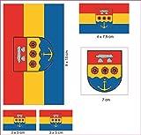 U24 Aufkleberbogen Landkreis Emsland Aufkleber Set Flagge Fahne